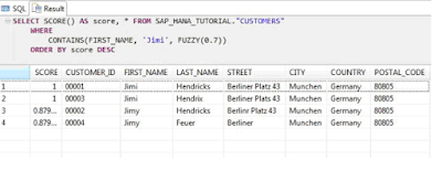 Text Analysis with SAP HANA
