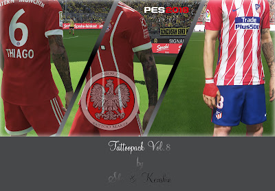 PES 2018 Mega Tattoopack vol 8 by Kenshin & Sho Studio