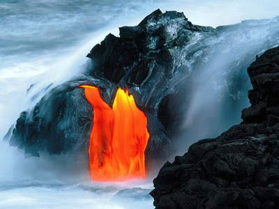 Volcano eruption - geological activity