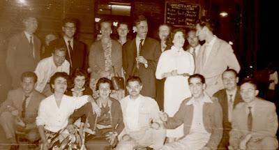 Jugadoras, organizadores y equipo arbitral del IV Campeonato de España de Ajedrez Femenino Valencia 1955