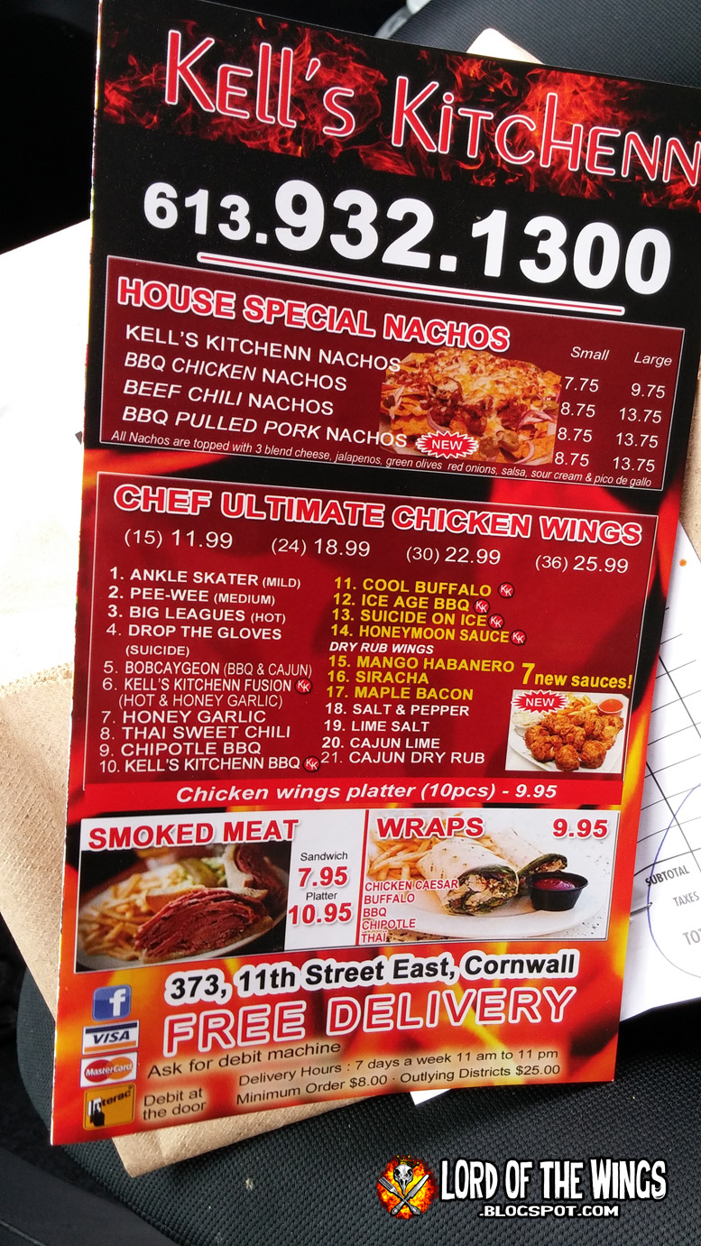 Kells has a big menu everything from sandwich and wraps pizza burgers hot dogs nachos etc i was interested in the very large chicken wing menu