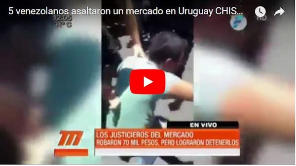 Cinco delincuentes venezolanos asaltaron un mercado en Uruguay
