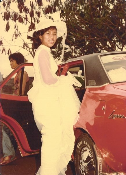 red car, wedding