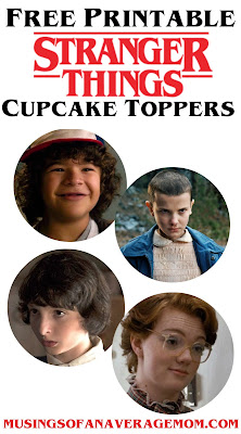 Stranger things cupcake toppers