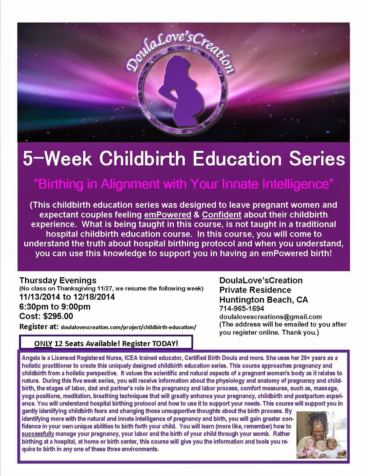 5-Week Childbirth Education Series!