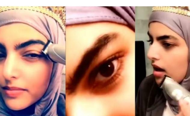 هذه الفتاة السعودية قامت بحلاقة حاجبيها أمام الكاميرا .. والسبب!!  بعد أيّام من تعرضها للضرب في لندن !