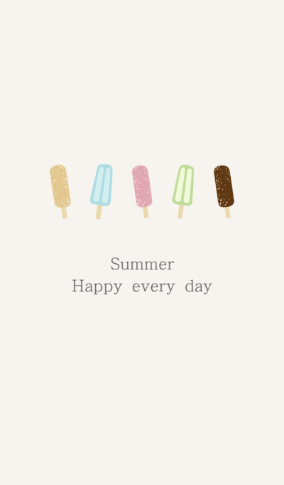 Summer delicious popsicle