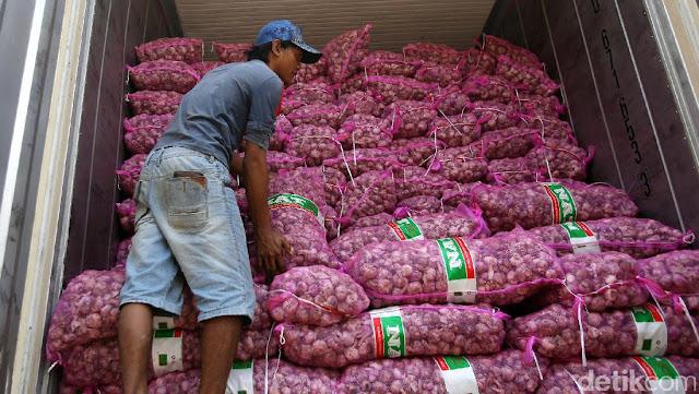 10 Ribu Ton Bawang Putih asal China Siap Serbu Jakarta