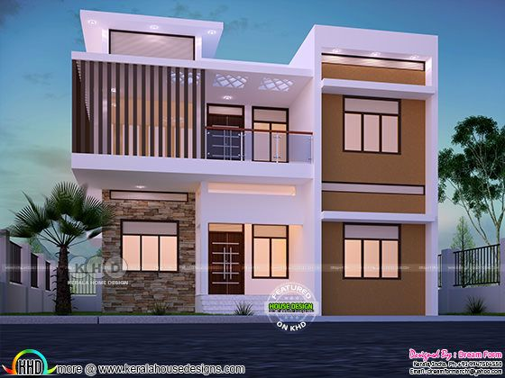 4 bedroom 2162 sq.ft  modern home design