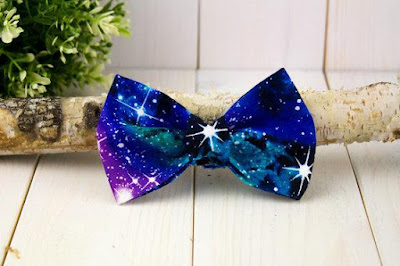 Galaxy Dog Bowtie