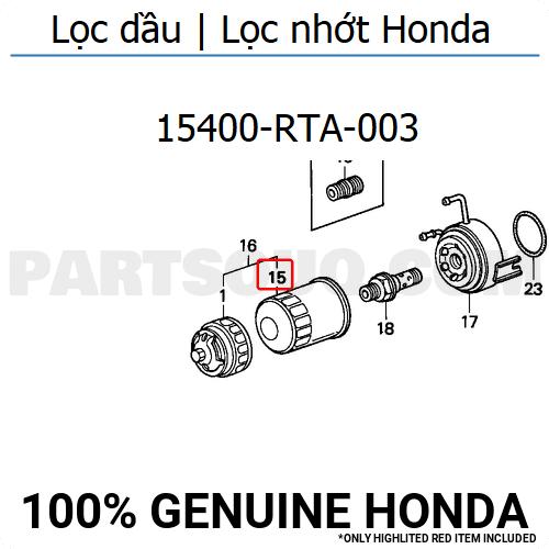 Lọc dầu Honda City| Lọc nhớt honda City| Lọc dầu máy Honda|15400-RTA-003| Lọc dầu Honda Civic| Lọc nhớt Honda Civic