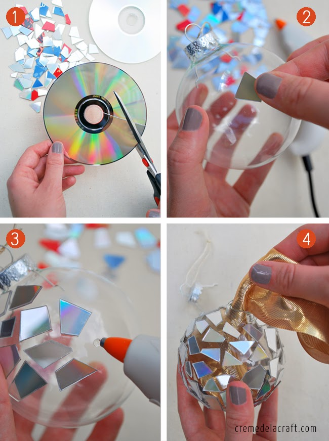 Christmas Crafts To Make And Sell Pinterest Diy: mosaic ornaments from