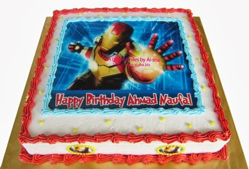 Kek Hari Jadi Edible Image Iron Man