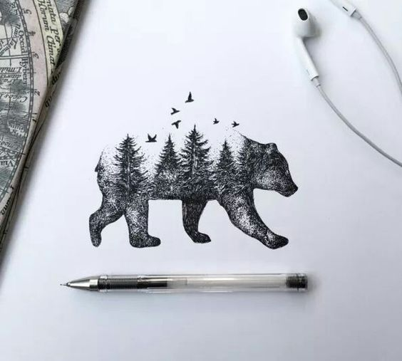 Awesome Bear Tattoo For Animal Lover
