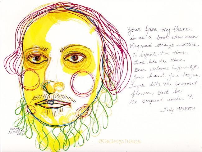 De Atramentis inks, Shakespeare, galleryjuana