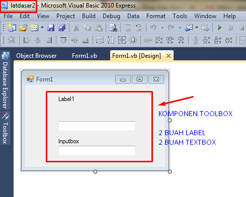 program penggunaan label dan textbox pada visual basic 2010