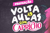 Promoção Volta às Aulas com Capricho voltaasaulasch.com.br