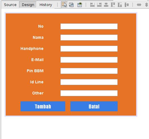 Gambar 2 - Membuat Aplikasi CRUD Dengan Java di Netbeans