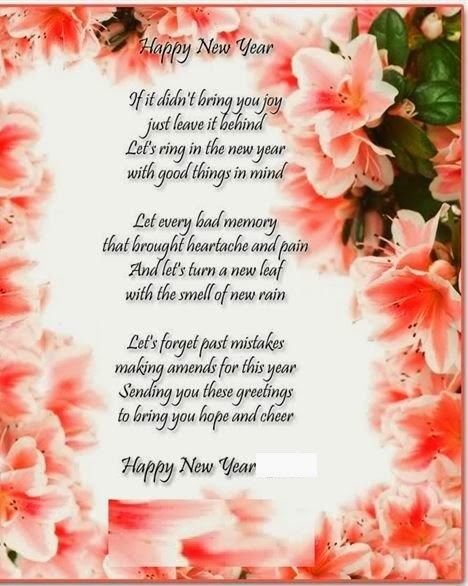 Famous Happy New Year Poems In English 2015 - Free Quotes ...
