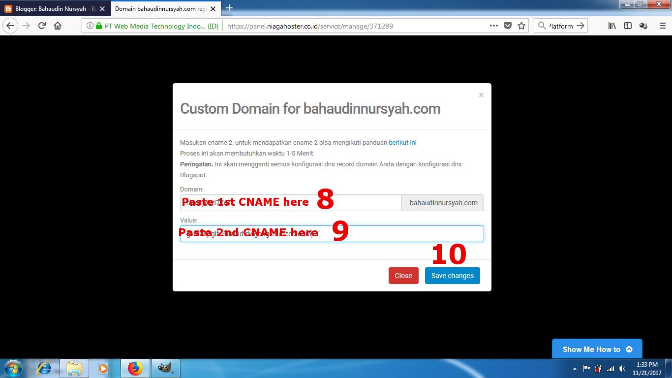 DNS Setup for Blogger Custom Domain