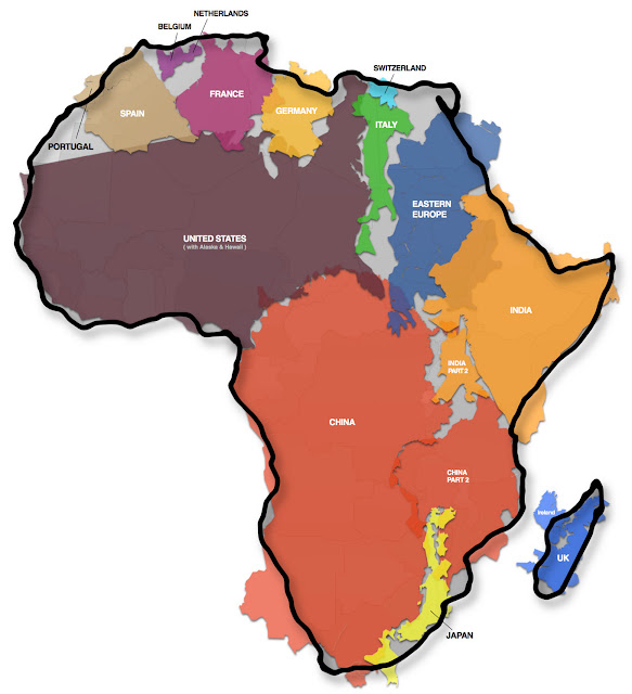 Kai Krause True Size of Africa Map