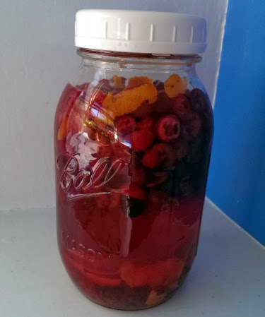 Liquid Christmas: cranberry orange liqueur