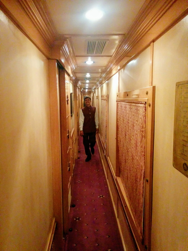 Each coach on the Golden Chariot Train comes with its own coach attendant