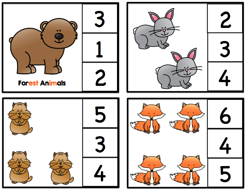 forest animals add on preschool printables. Black Bedroom Furniture Sets. Home Design Ideas