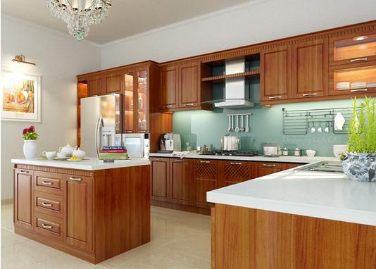 ưu điểm tủ bếp gỗ tự nhiên