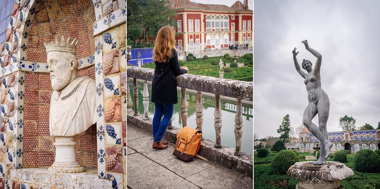 Pormenores dos jardim do Palácio Fronteira
