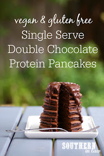 Vegan Single Serve Chocolate Protein Pancakes Recipe Gluten Free