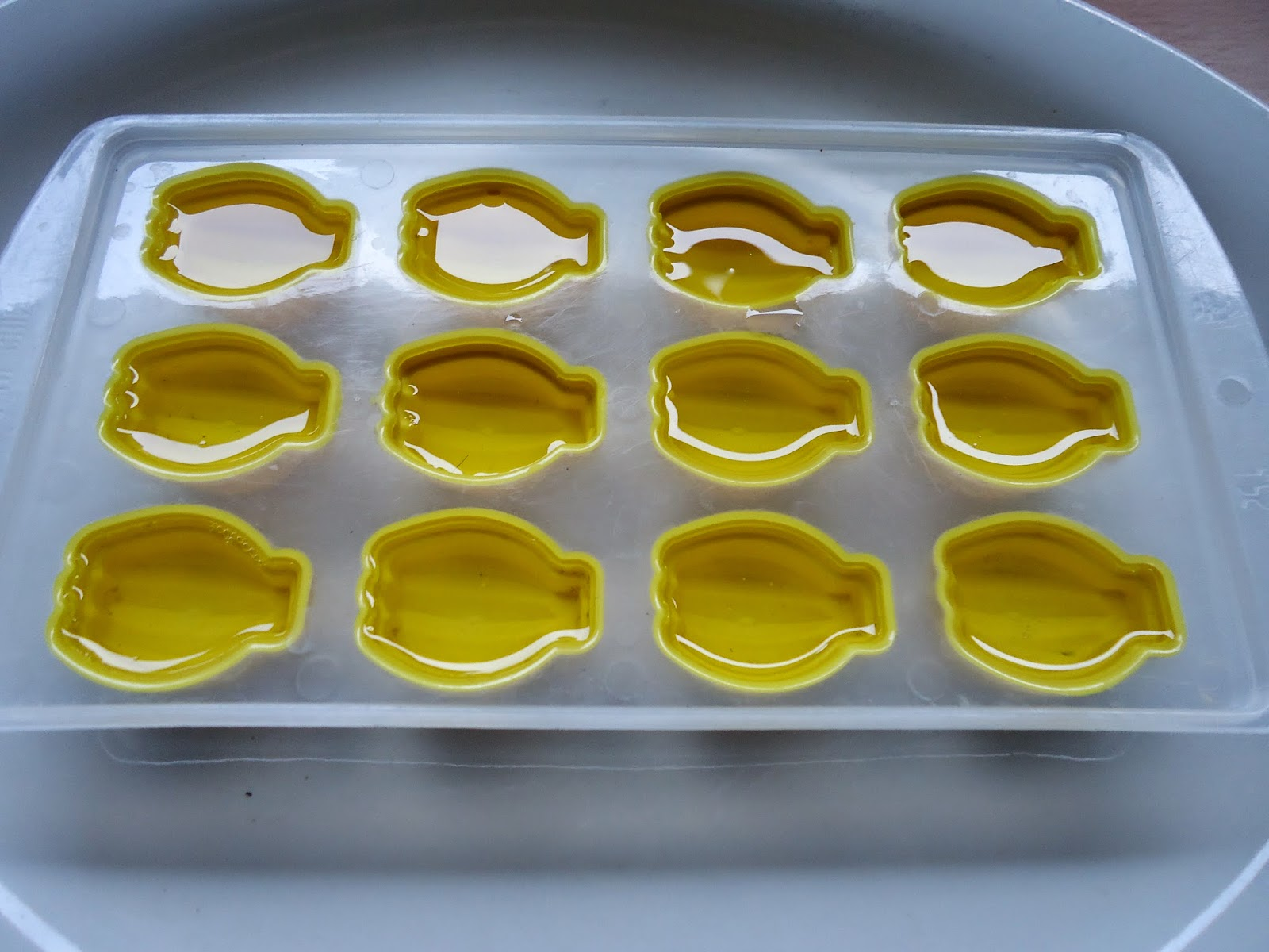 oil pulling chews in gelatin molds