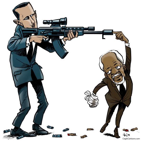 Art + Word: The Day in Cartoons: Syrian peace plan - Hajo ...