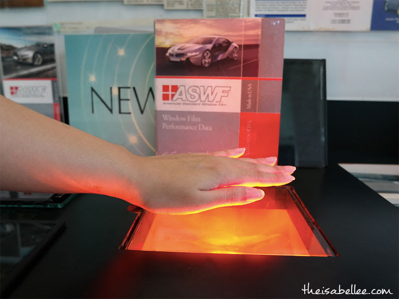 Testing car window tinting film for heat rejection