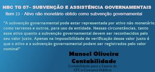 Ativo não monetário obtido como subvenção governamental - Terreno