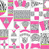 Cebra, Pink and Polka Dots Free Printable Kit.