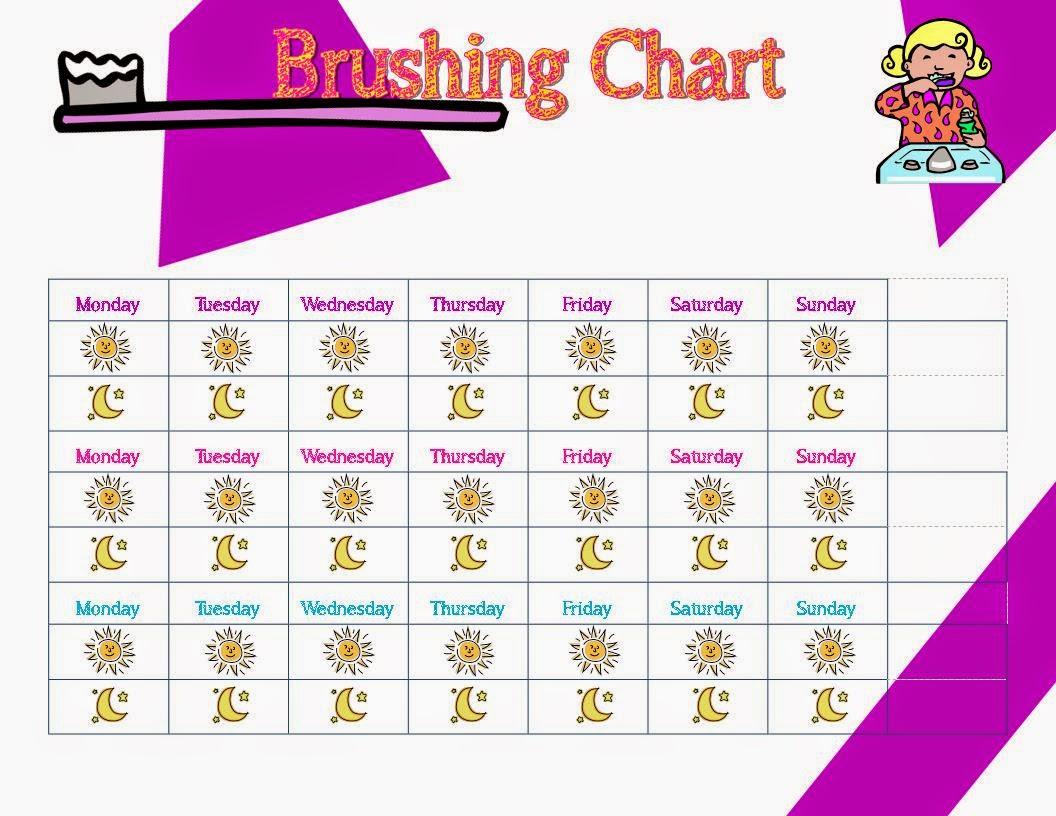Life In Random Bits Tooth Brushing Chart Amp Brushing