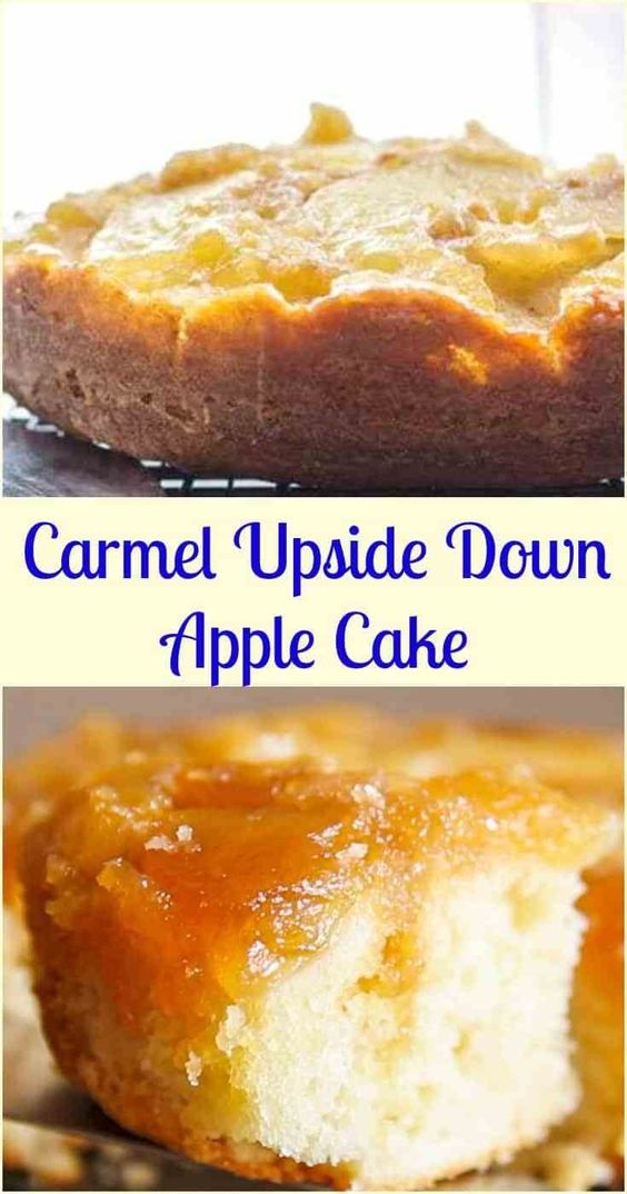 Caramel Upside Down Apple Cake