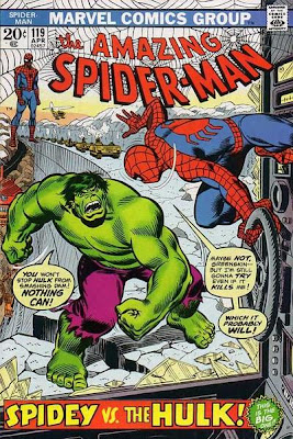Amazing Spider-Man #119, the Hulk in Canada, John Romita cover