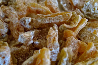 dehydrated candied zucchini