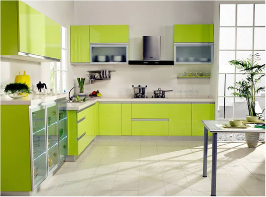 Architecture & Design: Green Theme Kitchen Ideas