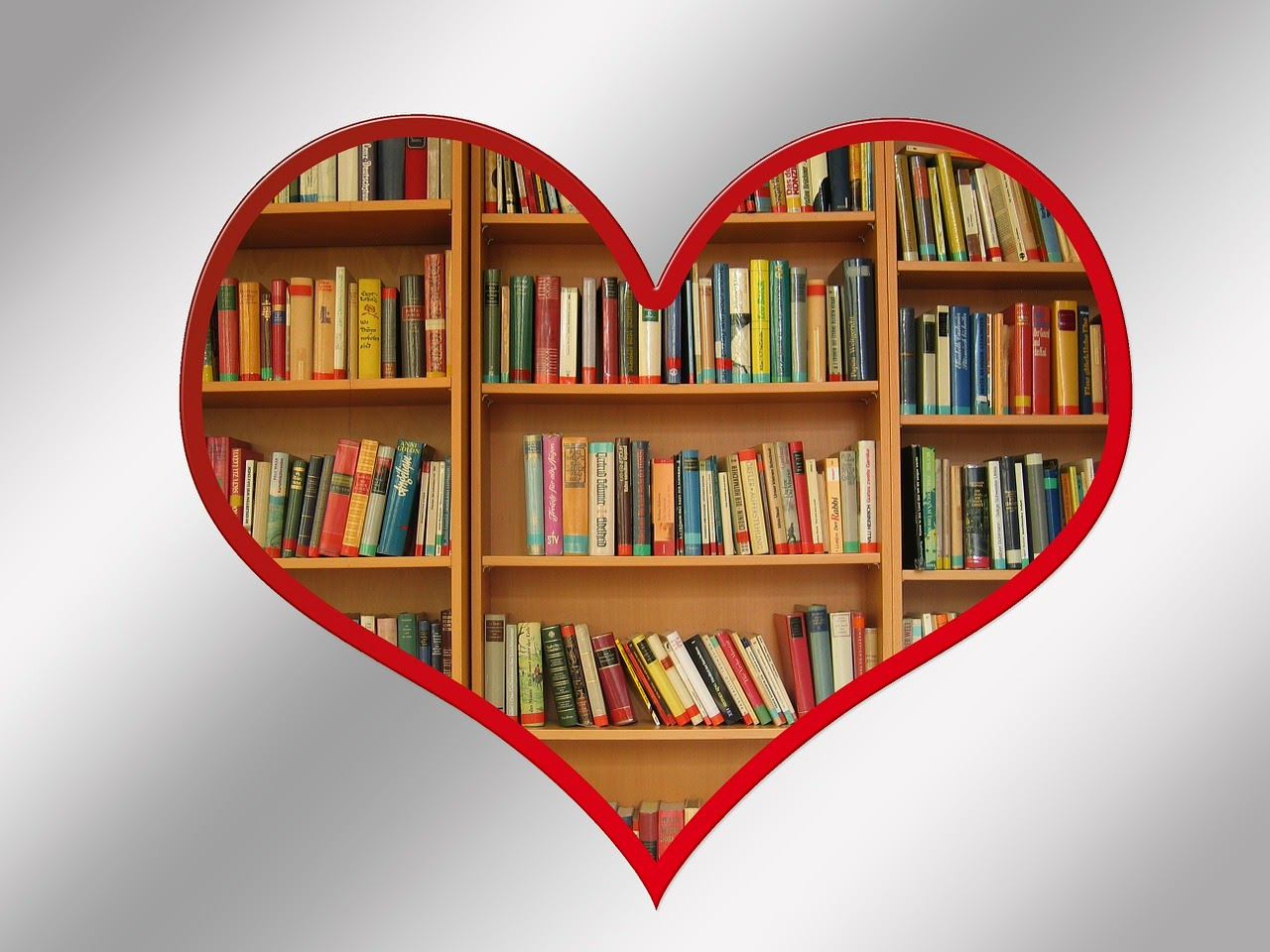Image of a heart with books inside.  Image Source: http://pixabay.com/p-112117/?no_redirect