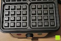 innen: Waffeleisen Belgisch für 4 belgische Waffeln,XXL Waffelautomat,brüssler Doppel,Thermostat, stufenlose Temperatureinstellung, Backampel, Cool-Touch Griff