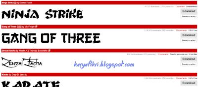 Font mirip huruf china - korea - jepang shared by karyafikri.blogspot.com