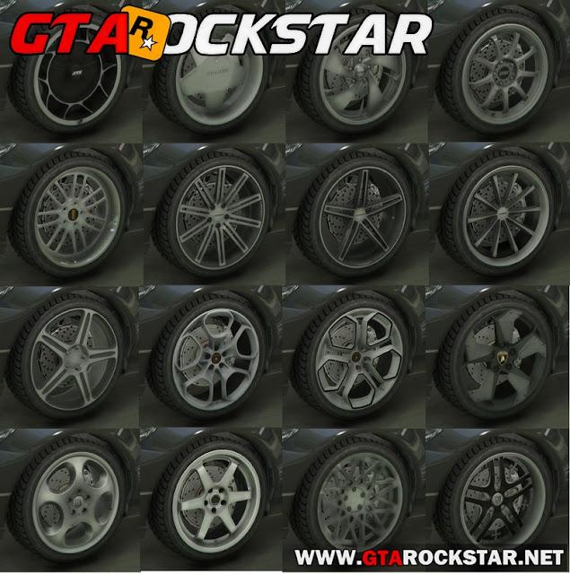GTA V - Real Wheels Pack (Pack de Rodas Realistas) for GTA V