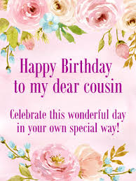 Happy birthday wishes for cousin girl