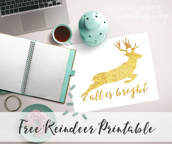 image regarding Silhouette Printable Gold Foil named Free of charge Gold Foil Reindeer Silhouette Printable ~ Thoroughly