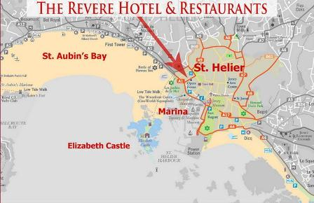 St Helier Map Map of Saint Helier