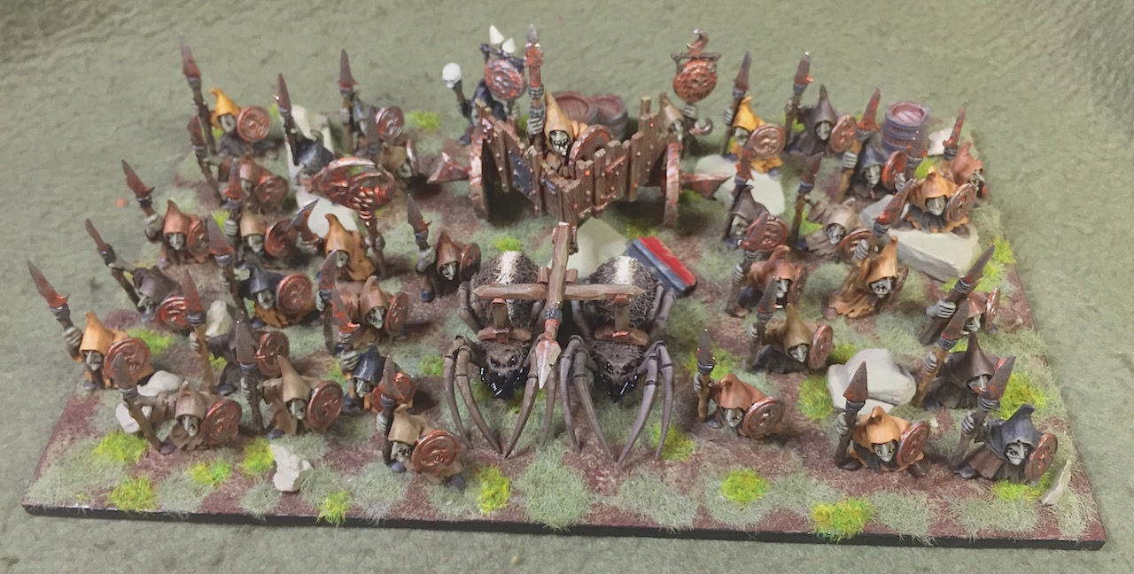 Goblins with spears and shields....and lots of them. That s unit number  five completed for project Goblin Army. 308663c0538c