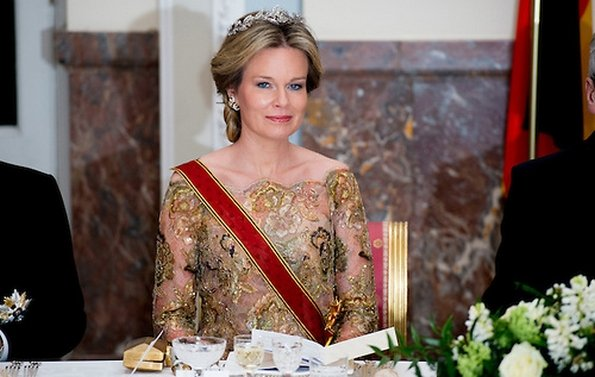 Queen Mathilde and King Philippe of Belgium hosted an state banquet in honor of German president Joachim Gauck and his partner Daniela Schadt
